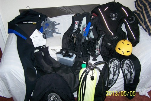 Full set of equipment, sports and tecnical