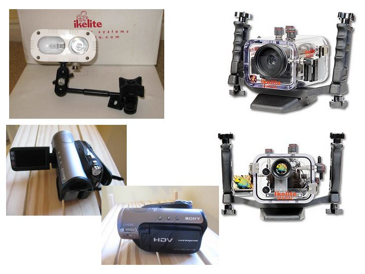 Sony HD  HDR-HC3 Videocamera, underwater housing, light & accessories