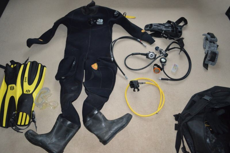 Otter 10mm dry suit , and all gear for scalloping