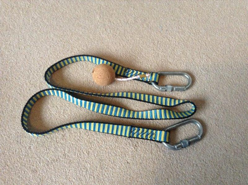Lanyard Strap, 2 x Carabiner and Cork Buoyancy Aid - Used
