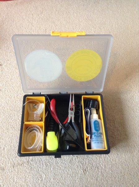 Diving Tool Box Including Tools and Spares