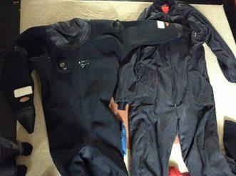 Full set of diving equipment