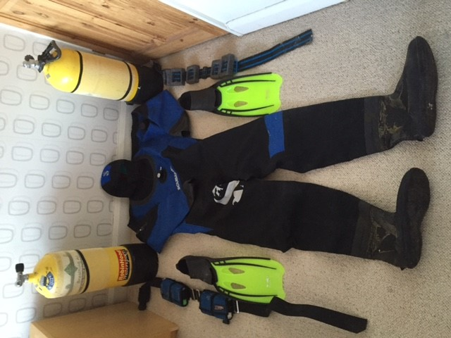 USED DIVING KIT FOR SALE