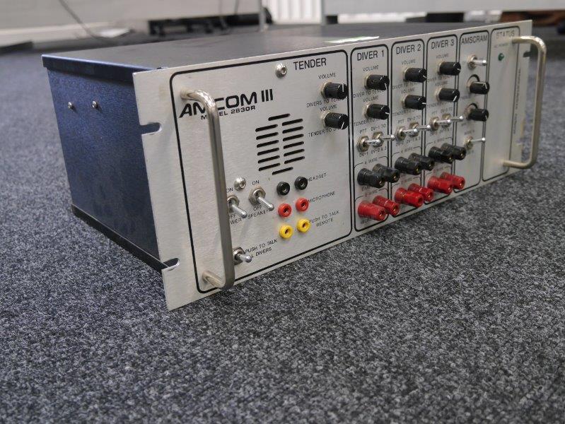 Amron Int Amcom II AND III Model Diver communicators with He Unscramblers